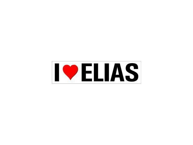I Love Heart Elias Sticker - 8