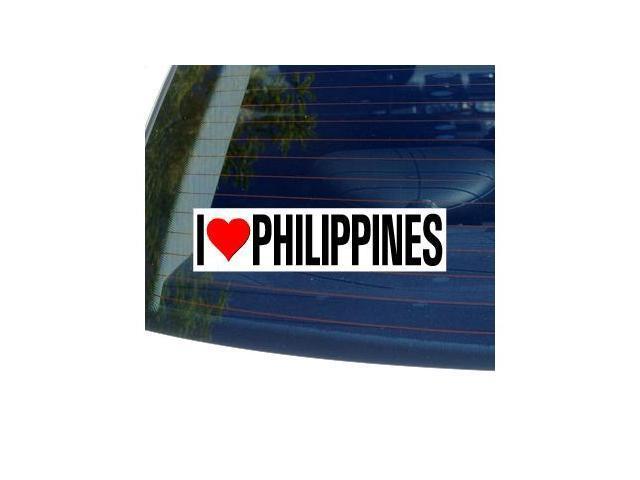 I Love Heart PHILIPPINES Sticker - 8