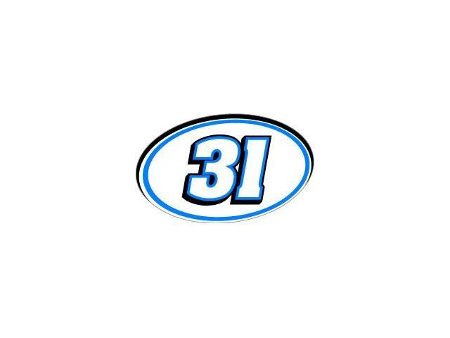 31 Number Racing - Blue Black Sticker - 5.5