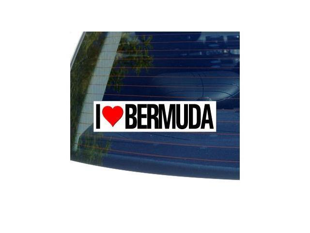 I Love Heart BERMUDA Sticker - 8