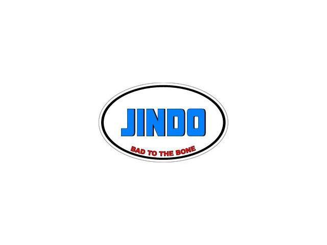 JINDO Bad to the Bone - Dog Breed Sticker - 5.5