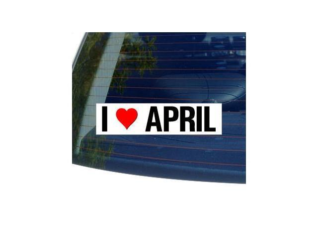 I Love Heart APRIL Sticker - 8