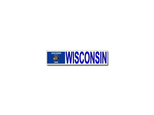 Wisconsin With State Flag Sticker - 8.5