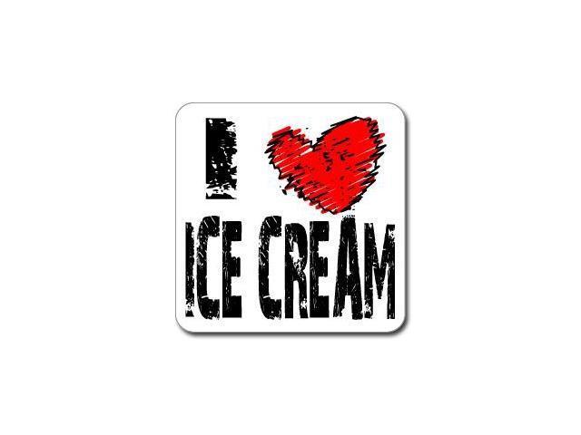 I Love Heart ICE CREAM Sticker - 5