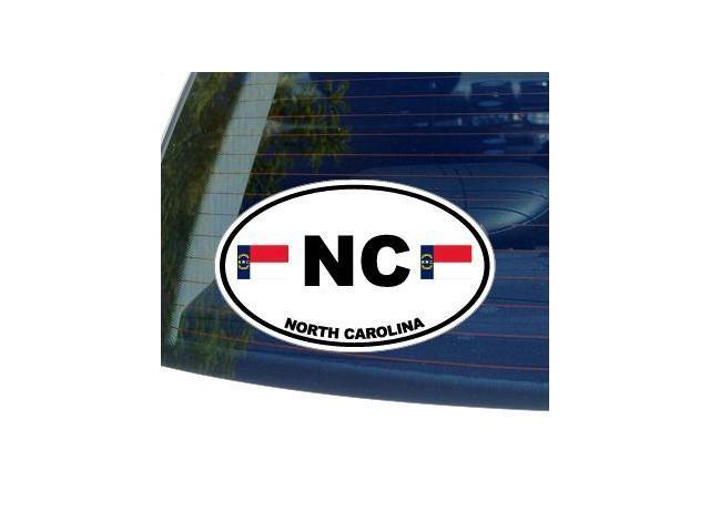 NC NORTH CAROLINA State Oval Flag Sticker - 5.5