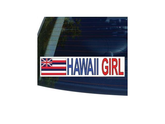 HAWAII GIRL State Flag Sticker - 8.5