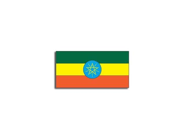 ETHIOPIA Flag Sticker - 5
