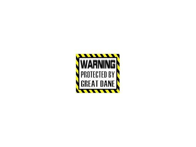 Warning Protected by GREAT DANE - Dog Sticker - 5