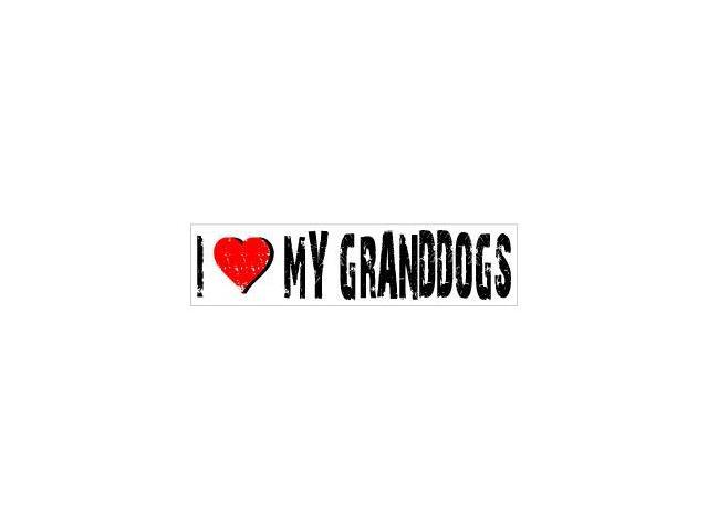 I Love Heart My Granddogs Sticker - 8