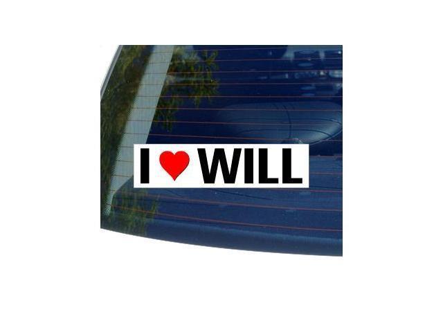 I Love Heart WILL Sticker - 8
