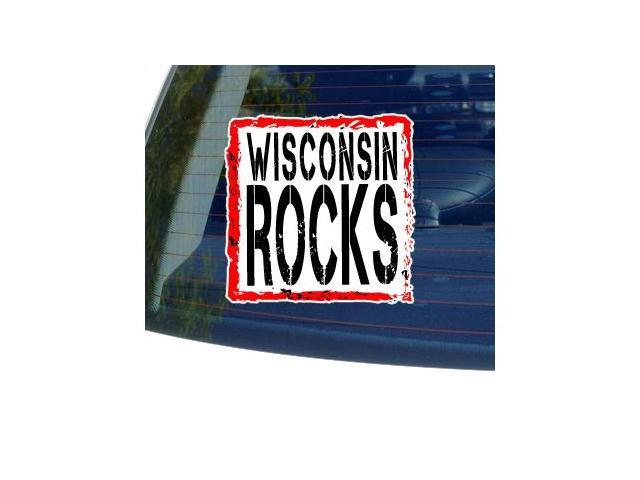 Wisconsin Rocks Sticker - 5