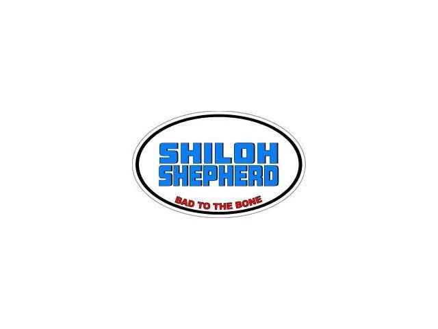 SHILOH SHEPHERD Bad to the Bone - Dog Breed Sticker - 5.5