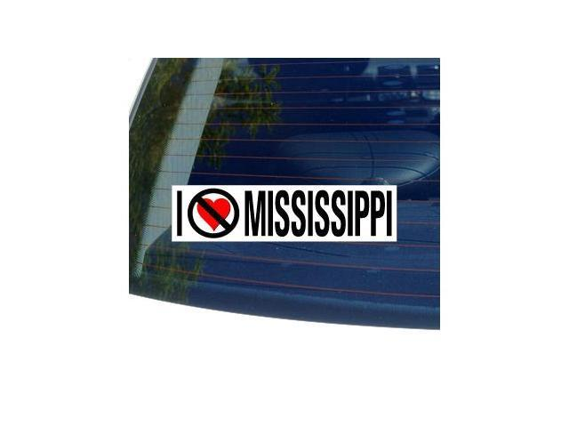 I Hate Anti MISSISSIPPI Sticker - 8