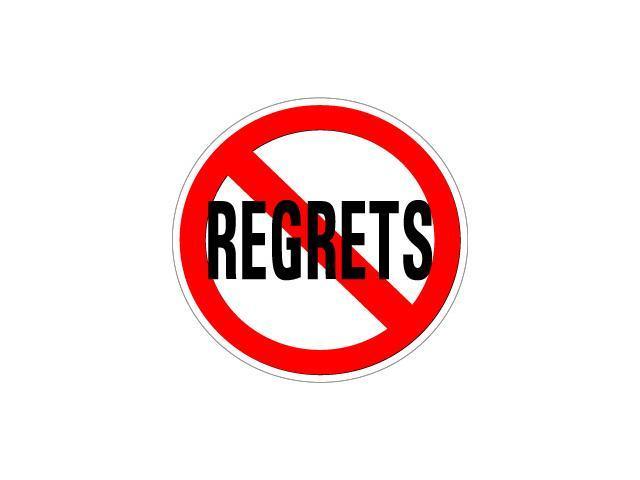 No Regrets Sticker - 5