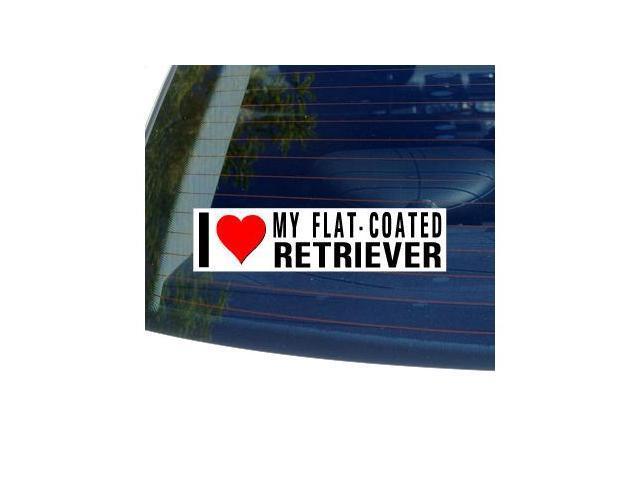 I Love Heart My FLAT-COATED RETRIEVER Sticker - 8