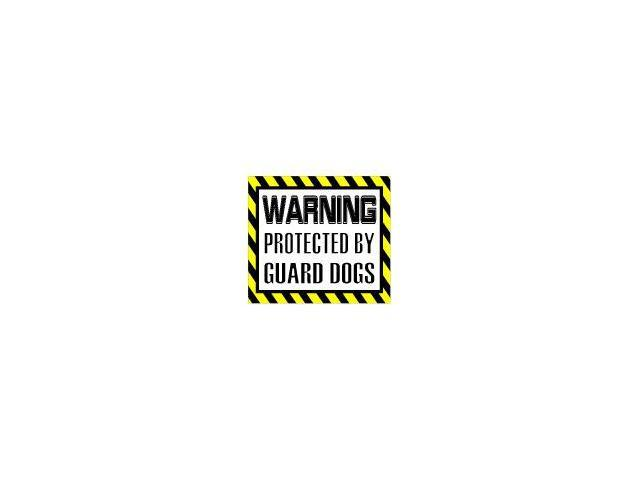 Warning Protected by GUARD DOGS Sticker - 5