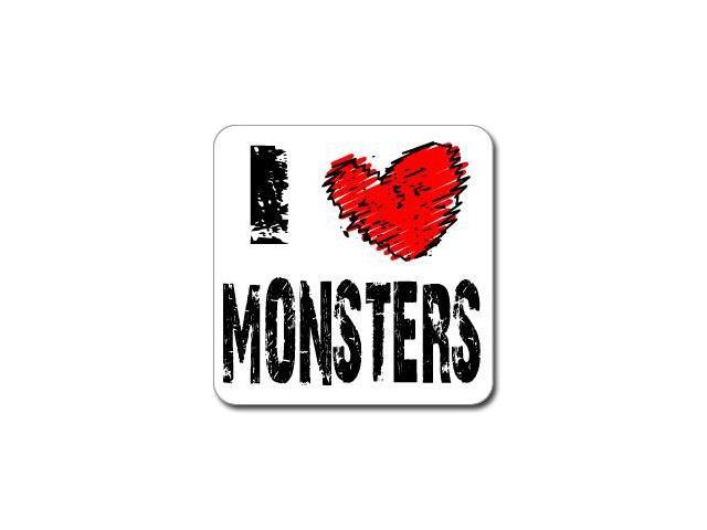I Love Heart MONSTERS Sticker - 5
