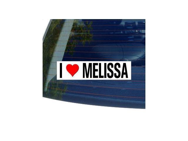 I Love Heart MELISSA Sticker - 8