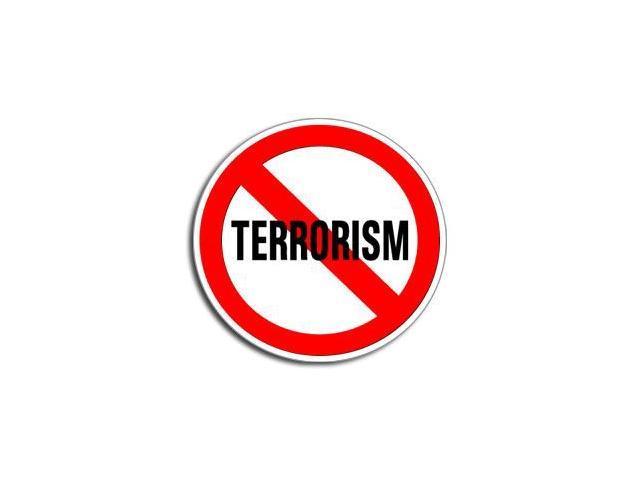 NO TERRORISM Sticker - 5