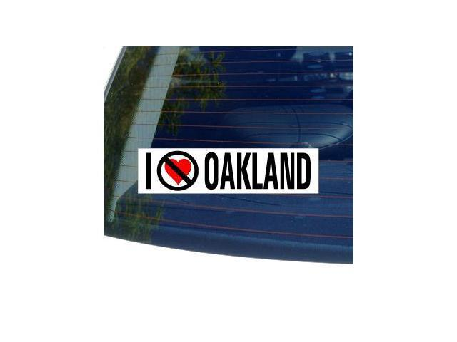 I Hate Anti OAKLAND - California Sticker - 8