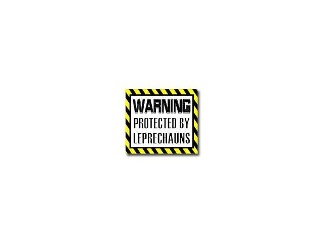 Warning Protected by LEPRECHAUNS Sticker - 5