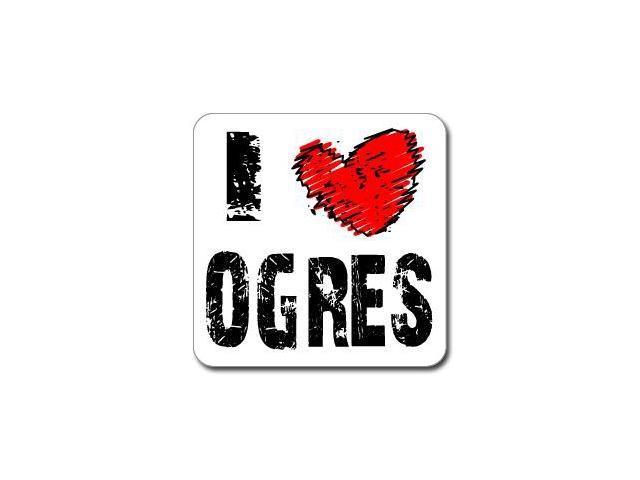 I Love Heart OGRES Sticker - 5