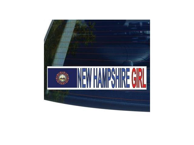 NEW HAMPSHIRE GIRL State Flag Sticker - 8.5