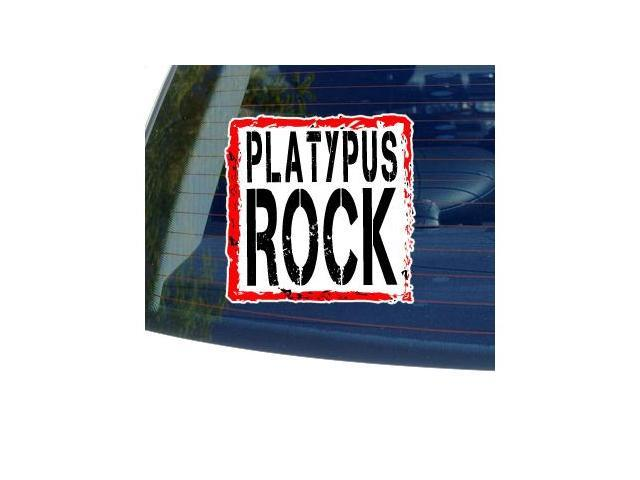 Platypus Rock Sticker - 5