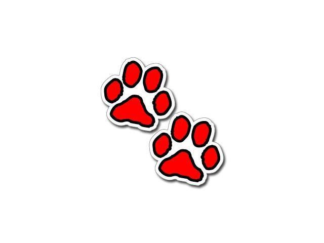 Paw Prints - Red and Black Stickers - 3