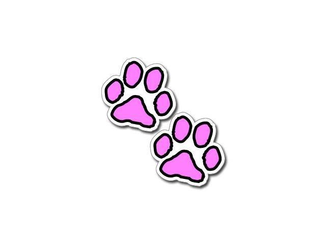 Paw Prints - Pink and Black Stickers - 3
