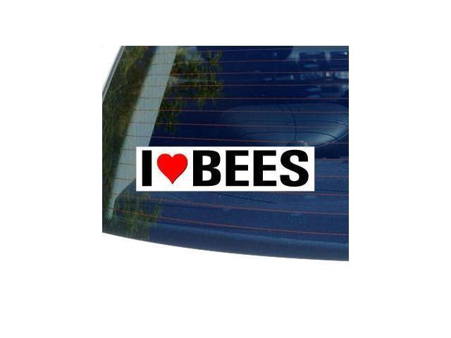 I Love Heart BEES Sticker - 8
