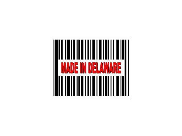 Made in Delaware Barcode Sticker - 4.5