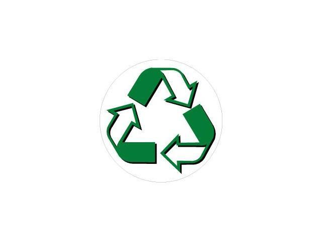 Recycle Symbol Circle Sticker - 4
