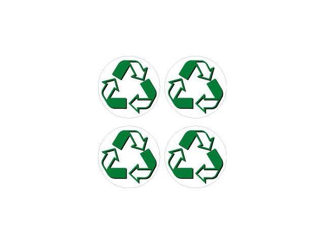 Recycle Symbol Circle Sheet of 4 Stickers - 2