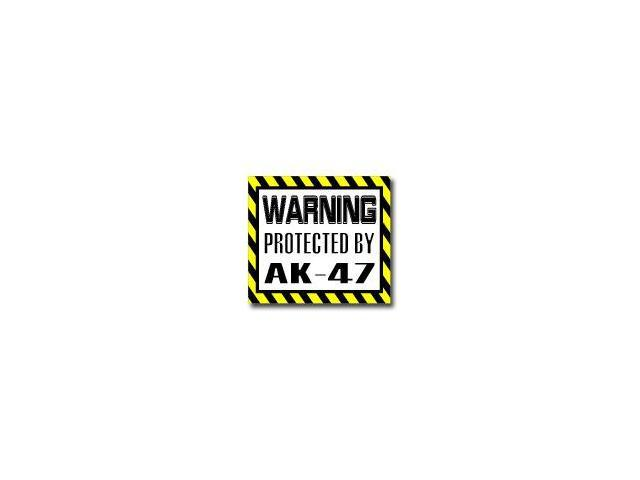 Warning Protected by TATTOOS Sticker - 5