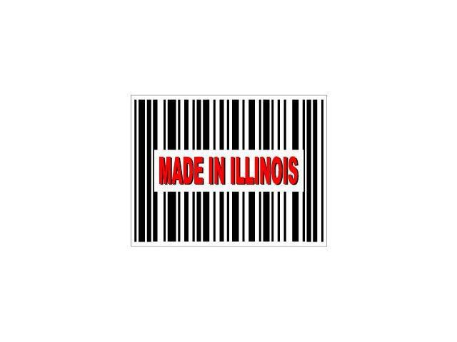 Made in Illinois Barcode Sticker - 4.5