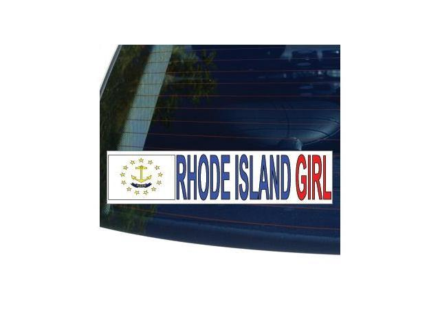 RHODE ISLAND GIRL State Flag Sticker - 8.5