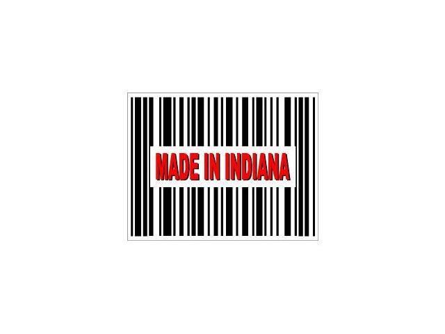 Made in Indiana Barcode Sticker - 4.5