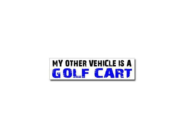 Other Vehicle is Golf Cart Sticker - 8
