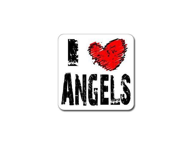 I Love Heart ANGELS Sticker - 5