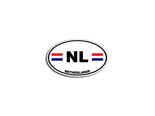 NL NETHERLANDS Country Oval Flag Sticker - 5.5