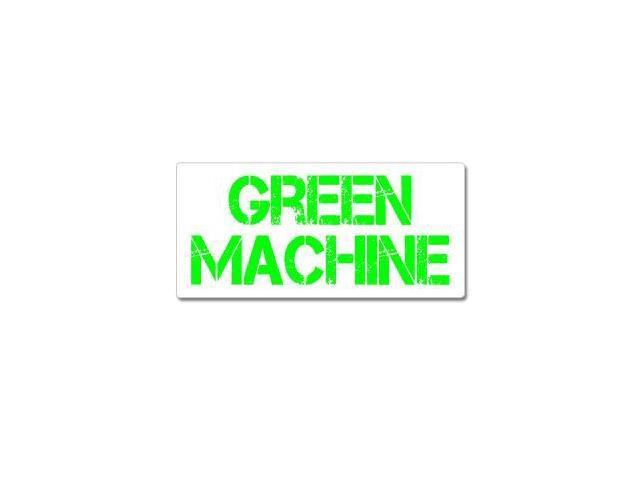 Green Machine - Hybrid Car Sticker - 7