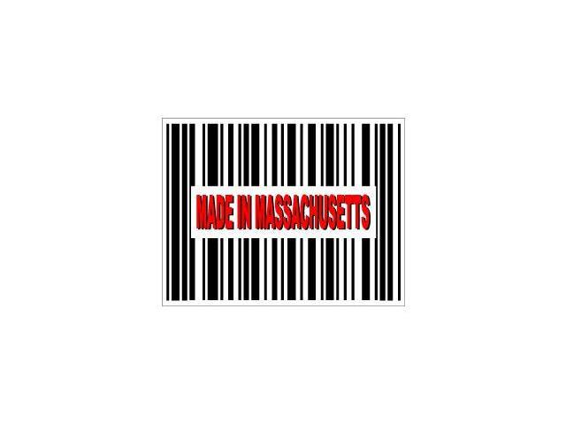 Made in Massachusetts Barcode Sticker - 4.5