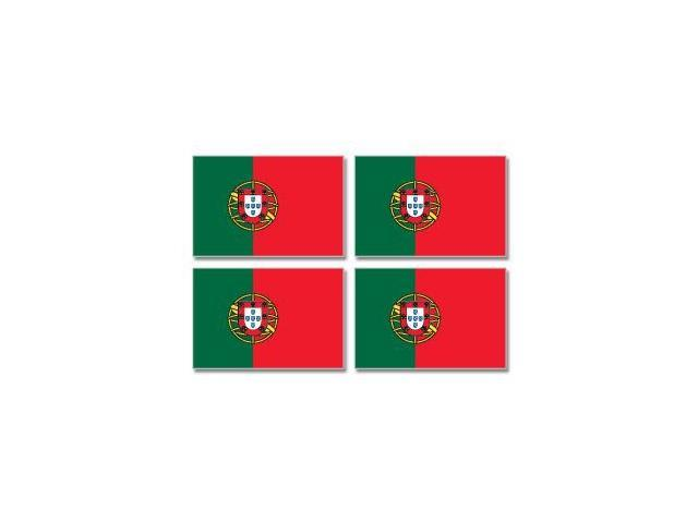 Portugal Country Flag - Sheet of 4 Stickers - 3