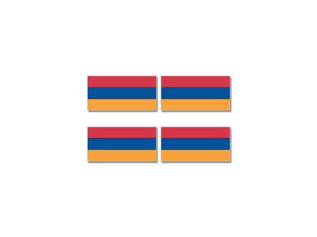 Armenia Country Flag - Sheet of 4 Stickers - 3