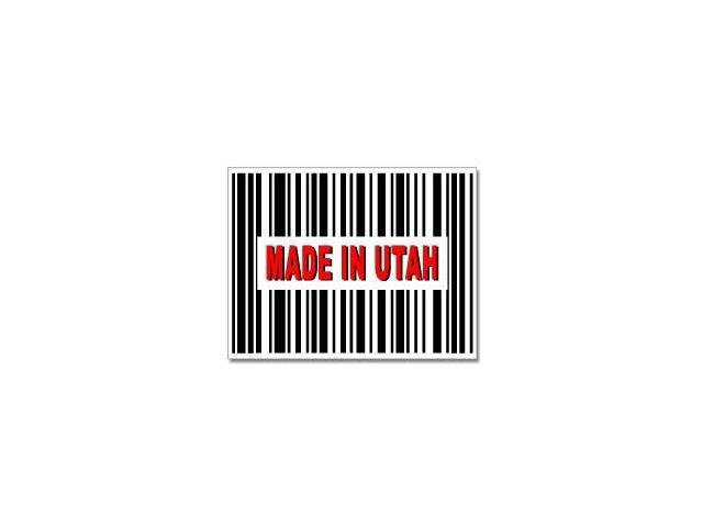Made in Utah Barcode Sticker - 4.5