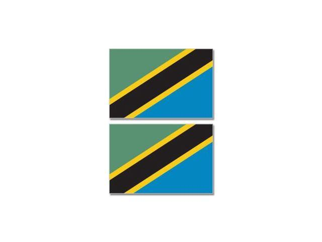 Tanzania Country Flag - Sheet of 2 Stickers - 4