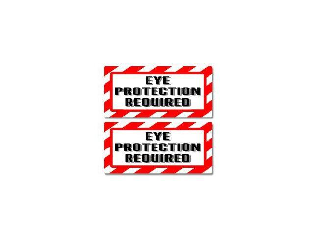 Eye Protection Required Sign Stickers - 5