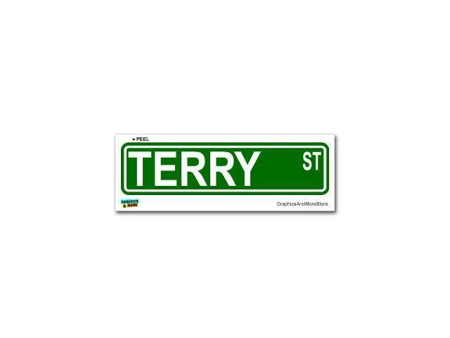 Terry Street Road Sign Sticker - 8.25