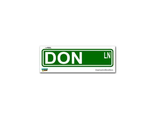 Don Street Road Sign Sticker - 8.25